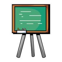 tableau d'école avec cadre en bois