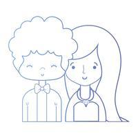 linea bellezza coppia sposata con design acconciatura