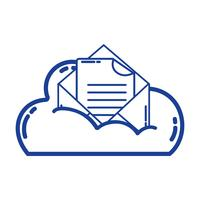 silhouette cloud data and card with document information