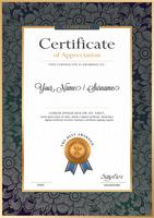 Certificate vector luxury template,
