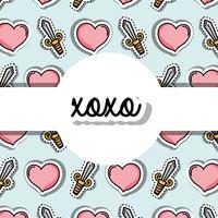 velentines day patches ontwerpen symbool van liefde