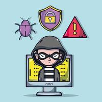 person hacker till programmerare virus i systemet