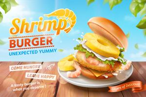 Shrimp burger ads