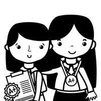 konturlärare med elev till klassutbildningslektion