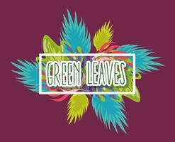 Desenho de folhas verdes