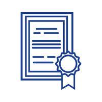 certificat de diplôme de silhouette avec la conception de cadre en bois