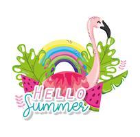 Hello summer card