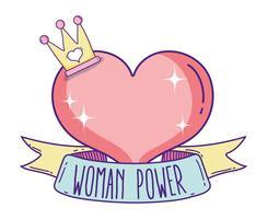 Niedliche Cartoons der Frauenpower
