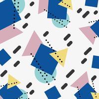 figuras de cor geométrica fundo de estilo memphis