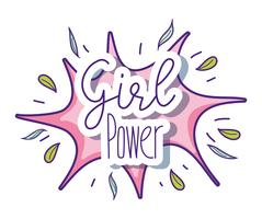 Girl power cute cartoons
