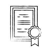 figuur afstuderen diploma certificaat met houten frame ontwerp