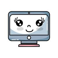 kawaii cute happy screen monitor
