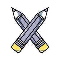 lápices colores escuela herramienta objeto diseño
