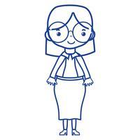 silhuett kvinna med frisyr och elegant kläddesign