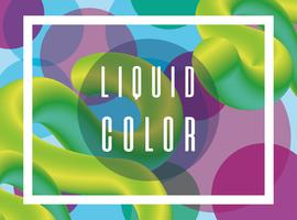 Cartaz de verme líquido futurista