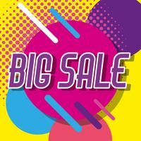 Stora affärer shopping affisch memphis stil