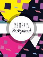 Memphis bunte Hintergrundauslegung