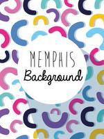 Memphis kleurrijke achtergrondontwerp