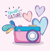 Youth culture cartoons vector