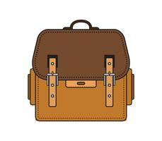 School bag icon on a white background vector