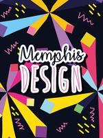 Diseño de fondo colorido de Memphis