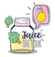 Desintoxicação suco de fruta