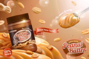 Annunci di diffusione di burro di arachidi