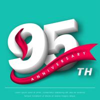 Årsdag emblem mall design