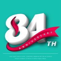 Design de modelo de emblemas de aniversário