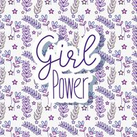 Woman power pattern background