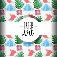 Paper art background