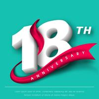 Verjaardag emblemen sjabloonontwerp