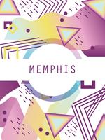 Modello e sfondo di Memphis