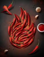Hete chili peper