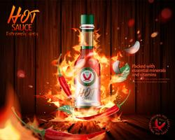 Hot sauce product advertenties