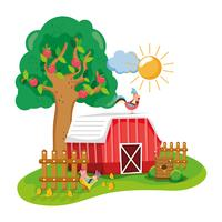 Caricature de la belle ferme