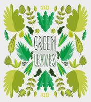 Groene bladeren cartoon