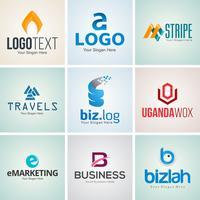 Conjunto de plantillas de diseño de logotipo corporativo creativo vector
