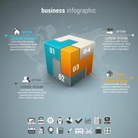 Elementos de opciones de infografías de negocios