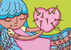Bambini e cartoni animati d'amore