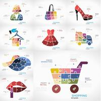 Business infographics options elements