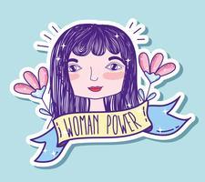 Kvinna power girl tecknad film