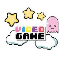 Videogame pixel cartoons