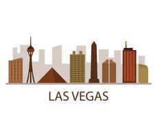 Las Vegas skyline på vit bakgrund