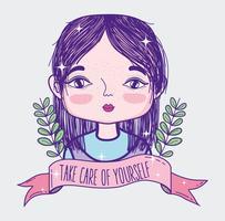 Cuide-se citar com desenho de menina