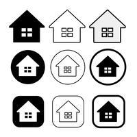 simbolo semplice casa e segno icona casa