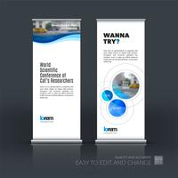 Jeu de vecteur d'affaires abstraites de stand moderne Roll Up Up Banner