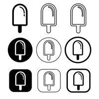 Reihe von einfachen Eis-Symbol