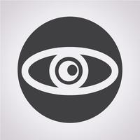 Icono de ojo símbolo de signo