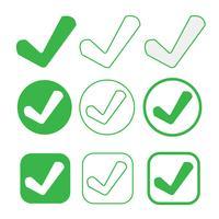 simpel vinkje pictogram goedkeuren teken goedkeuren